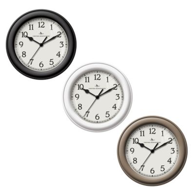 FirsTime® Essential Wall Clock in Black
