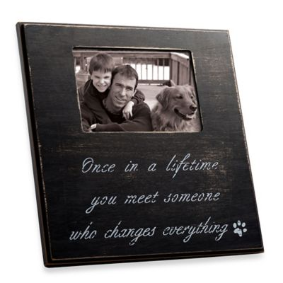 """Once In Lifetime"" 4-Inch x 6-Inch Frame in Black Distressed Wood"