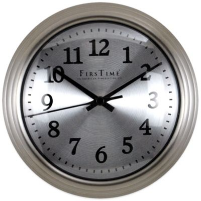 FirsTime® Sleek Steel Wall Clock