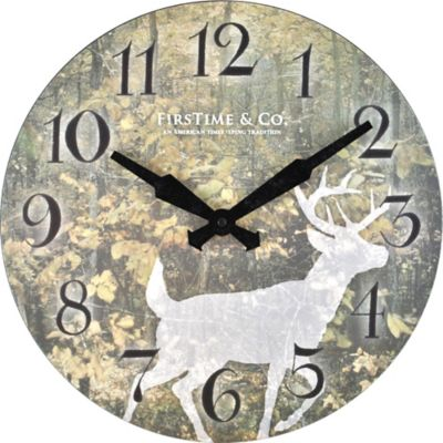 FirsTime® Forest Deer Wall Clock