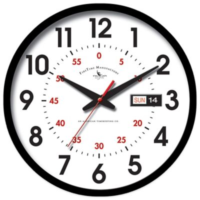 FirsTime® Harris Day/Date Wall Clock
