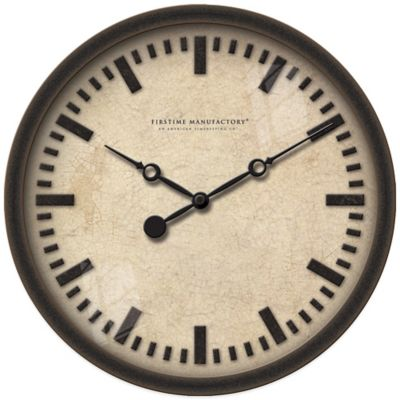 FirsTime® Raised Bronze Wall Clock