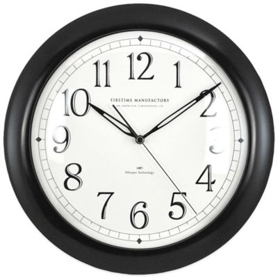 FirsTime® Black Slim Wall Clock