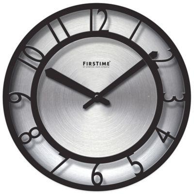 Black Steel Wall Clock