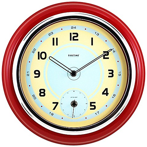 firstime classic kitchen wall clock bed bath beyond