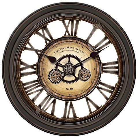 Firstime 174 Gear Works Wall Clock Bed Bath Amp Beyond