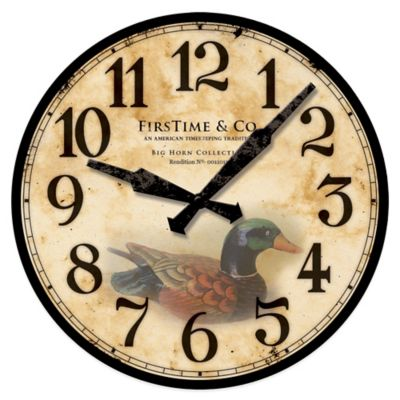 FirsTime® Duck Decoy Wall Clock