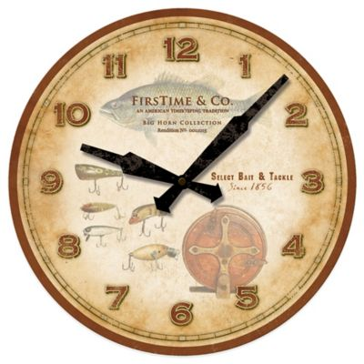 FirsTime® Fishing Lures Wall Clock