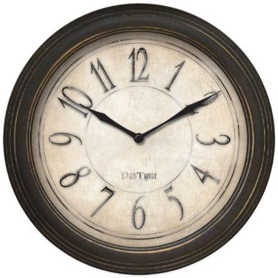 FirsTime® Distressed Plastic Wall Clock
