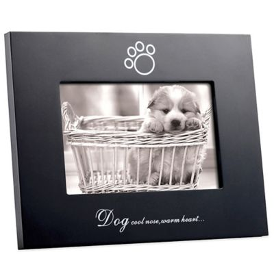 "Black Wood ""Cool Nose, Warm Heart"" 4-Inch x 6-Inch Frame"
