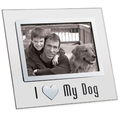 I Love My Dog 4-Inch x 6-Inch Picture Frame in Glass and Chrome