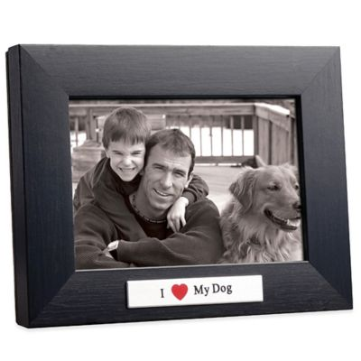 I Love My Dog 4-Inch x 6-Inch Frame in Black
