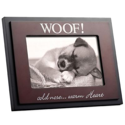 Black/Espresso Cold Nose Warm Heart 4-Inch x 6-Inch Picture Frame