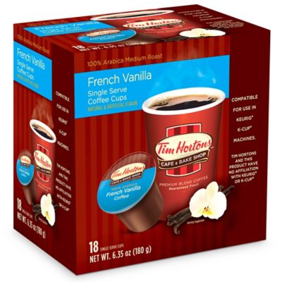 18-Count Tim Hortons™ French Vanilla Coffee For Single Serve Coffee Makers