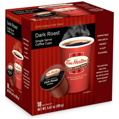 18-Count Tim Hortons™ Dark Roast Coffee For Single Serve Coffee Makers