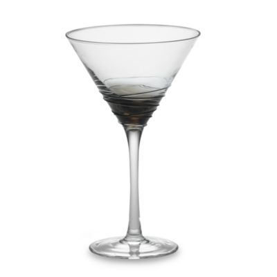 Mikasa® Swirl Martini Glass in Smoke