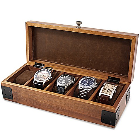 Wood watch box bed bath beyond for Watches box