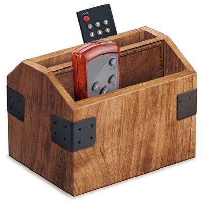 Wood Remote Control Caddy