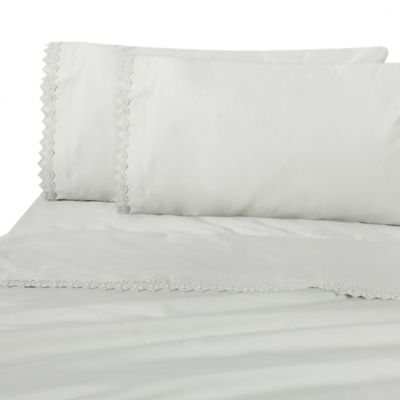 Raymond Waites Ivana King Pillowcase Pair in Silver