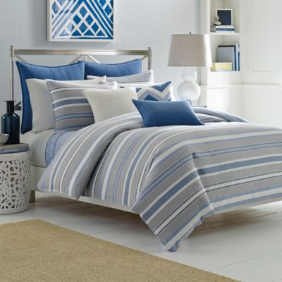 Nautica® Sedgemoor King Duvet Cover Set in Grey