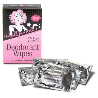 Hollywood 5-Pack Deodorant Wipes
