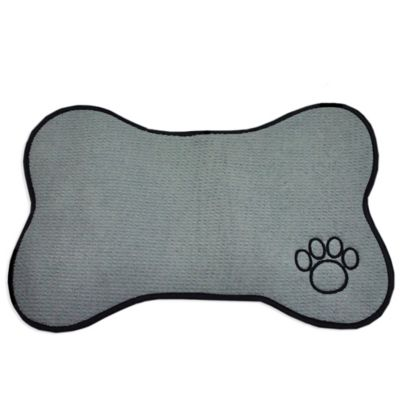 Bone Shape Pet Mat in Grey