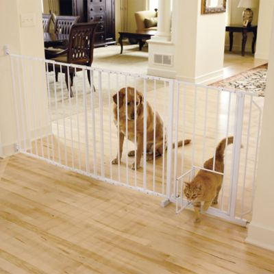 Carlson Maxi Walk-Thru Pet Gate in White