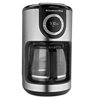 KitchenAid® 12-Cup Glass Carafe Coffee Maker in Black