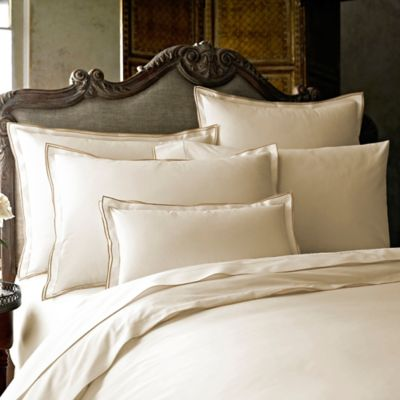 Kassatex Fiesole Italian-Made European Pillow Sham in Sand