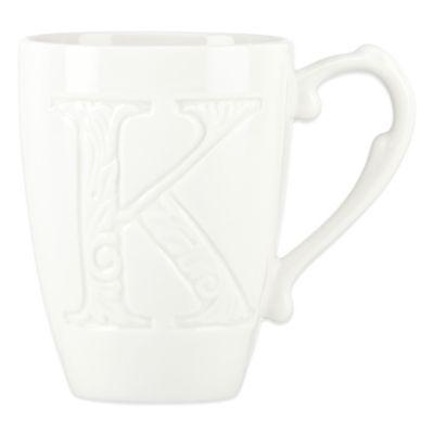 """Lenox® Initially Mine """"Letter K"""" Carved Monogram Mug"""