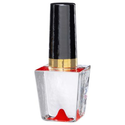 Kosta Boda Make Up Nail Polish Glass Bottle Figurine in Red