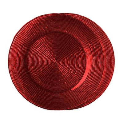 Red Glass Chargers