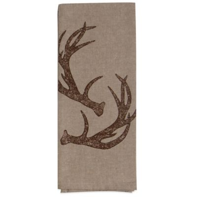 Antler Chambray Tea Towel
