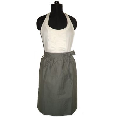 Grace Grey and Ivory Dress-Style Fashion Apron