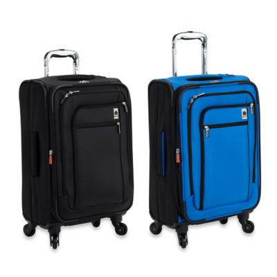 DELSEY Helium Sky 21-Inches Expandable Spinner Suiter Carry-On Trolley in Blue