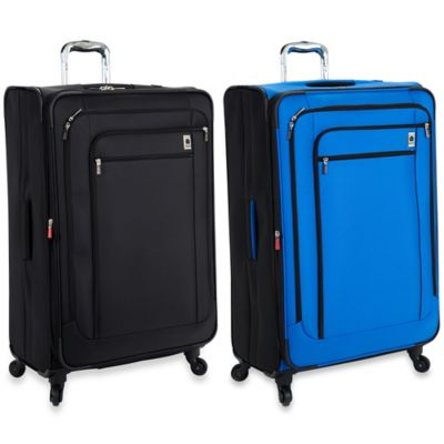DELSEY Helium Sky 29-Inch Expandable Spinner Suiter Trolley in Blue
