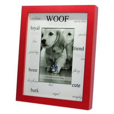 Red Wood Matte Shadowbox WOOF 4-Inch x 6-Inch Frame
