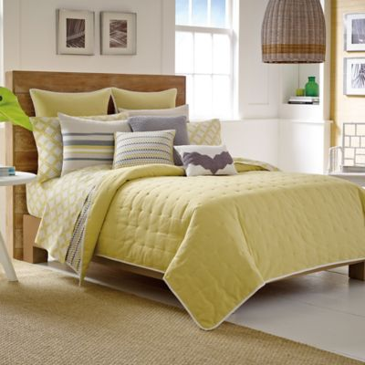 Nautica® Shelford Twin Coverlet in Yellow