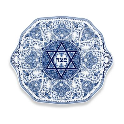 Blue Holiday Plates