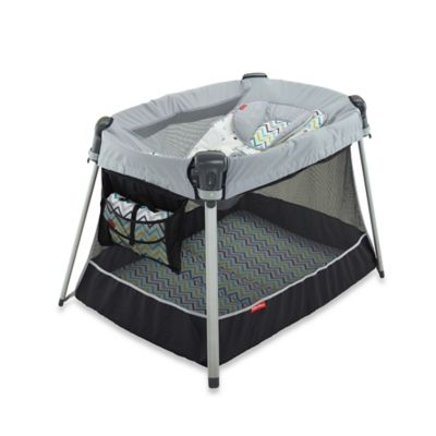 Fisher-Price® Ultra-Lite Day and Night Playard in Chevron Fusion