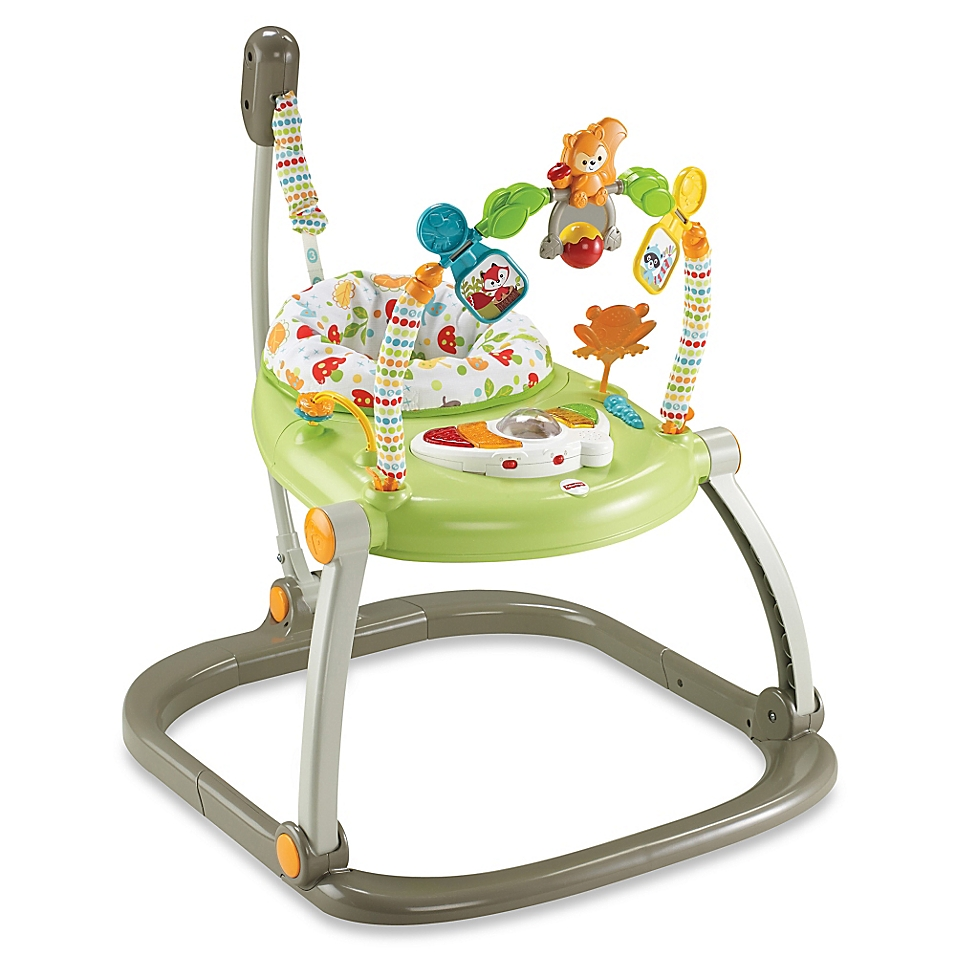 Fisher-Price® SpaceSaver Jumperoo in Woodland Friends - buybuyBaby.com