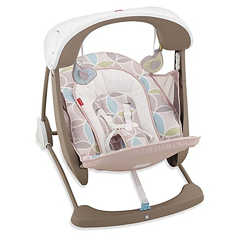 Fisher Price 174 Deluxe Take Along Swing And Seat In Mocha
