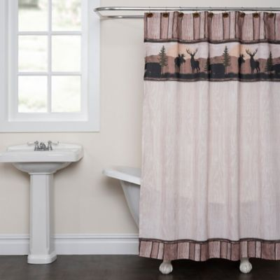 Silhouette Wildlife Shower Curtain