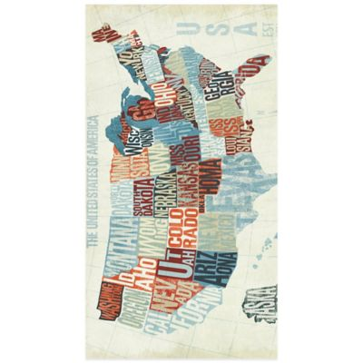 Letterpress USA Map 16-Count Paper Guest Towels