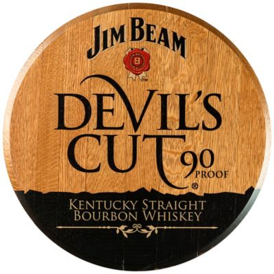 Jim Beam® Devil's Cut Bourbon Barrel Head Wall Décor