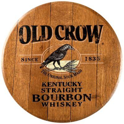 Old Crow Bourbon Barrel Head Wall Décor