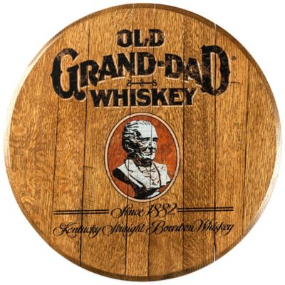 Old Grand-Dad Bourbon Barrel Head Wall Décor