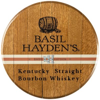 Basil Hayden's Bourbon Barrel Head Wall Décor