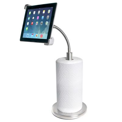 CTA Digital Paper Towel Holder with Gooseneck Stand for iPad® and Tablets