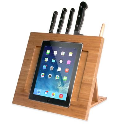 Bamboo Adjustable Kitchen Stand for iPad® by CTA Digital